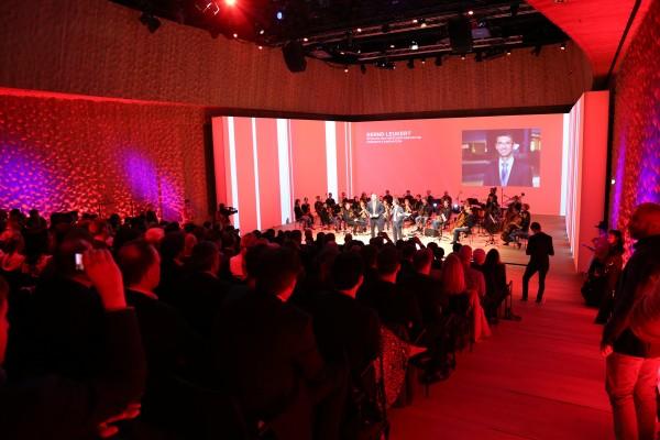 Das GermanPops Orchestra spielte auf der Wladimir Klitschko Pressekonferenz