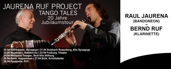 """Jaurena Ruf Project  """"Tango Tales"""" - 20 Jahre Jubiläumstour"""