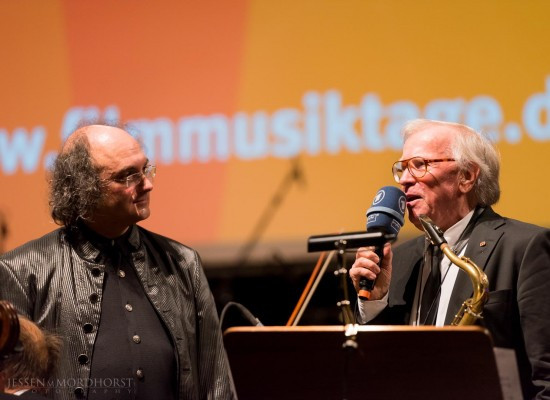 Bernd Ruf und Klaus Doldinger bei den Filmmusiktagen Sachsen-Anhalt